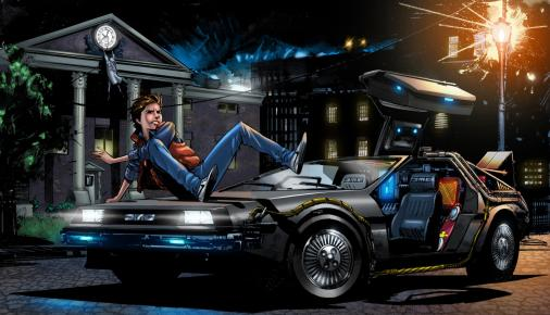 back_to_the_future_marty_mcfly_art_delorean_dmc_12_car