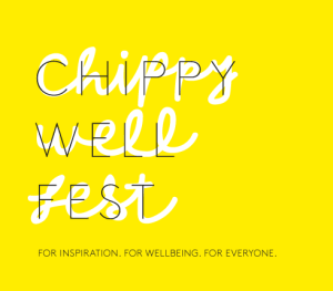 ChippyWellFest in yellow plus strapline