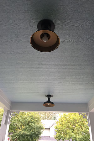 replace lighting before after