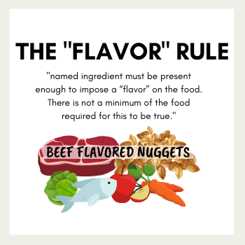 The Flavor Rule