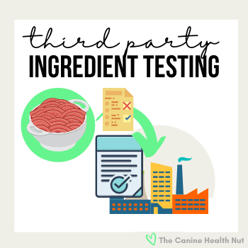 third party testing of ingredients entering manufacturing facility