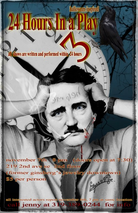 24 Hours in a Play... A Halloween Themed Event poster