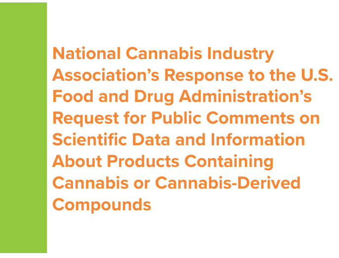 NCIA Submits Public Comment To FDA On Hemp and CBD Products