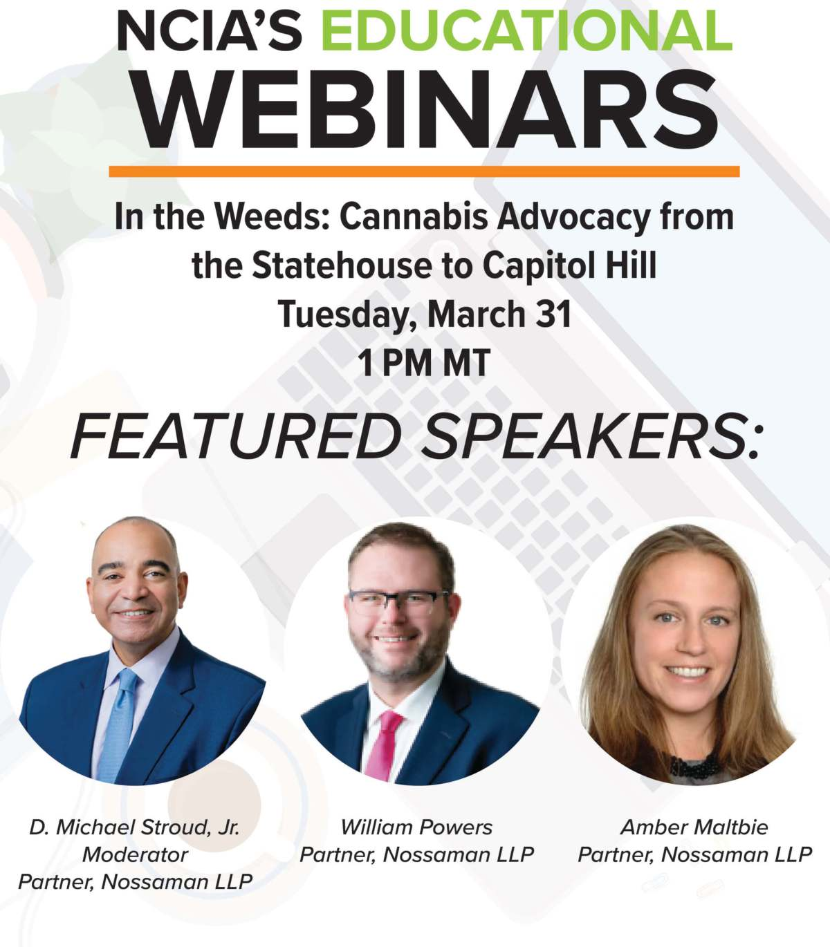 Webinar Recording: In the Weeds – Cannabis Advocacy from the Statehouse to Capitol Hill