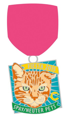 The Cannoli Fund's 2015 Fiesta San Antonio medal features Tar-Zhay the cat.