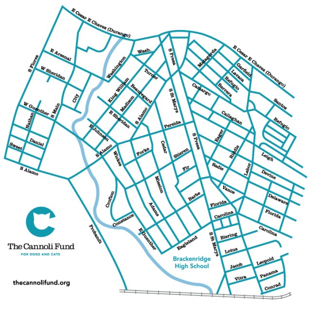 service area for The Cannoli Fund