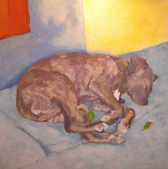dog-paintings-sleeping-dog