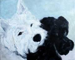 dog-paintings-westie-schnauzer