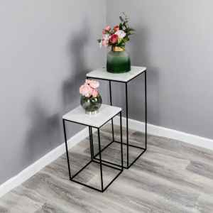 Marble Display Tables Set of 2