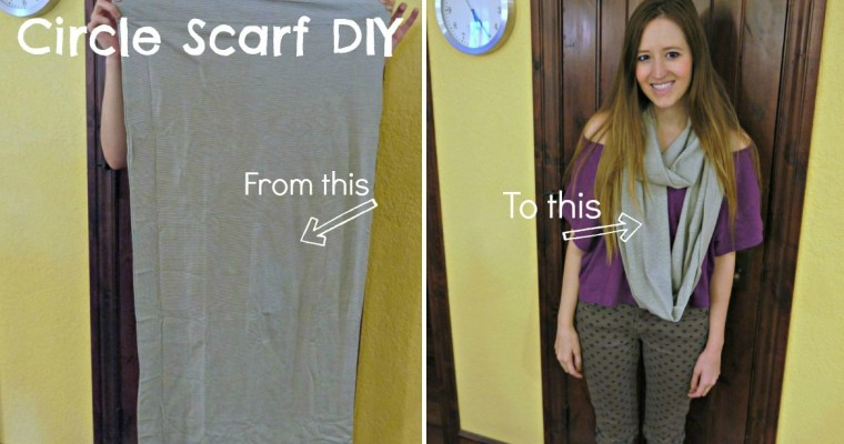 Design DIY: Pillowcase to Infinity Scarf DIY