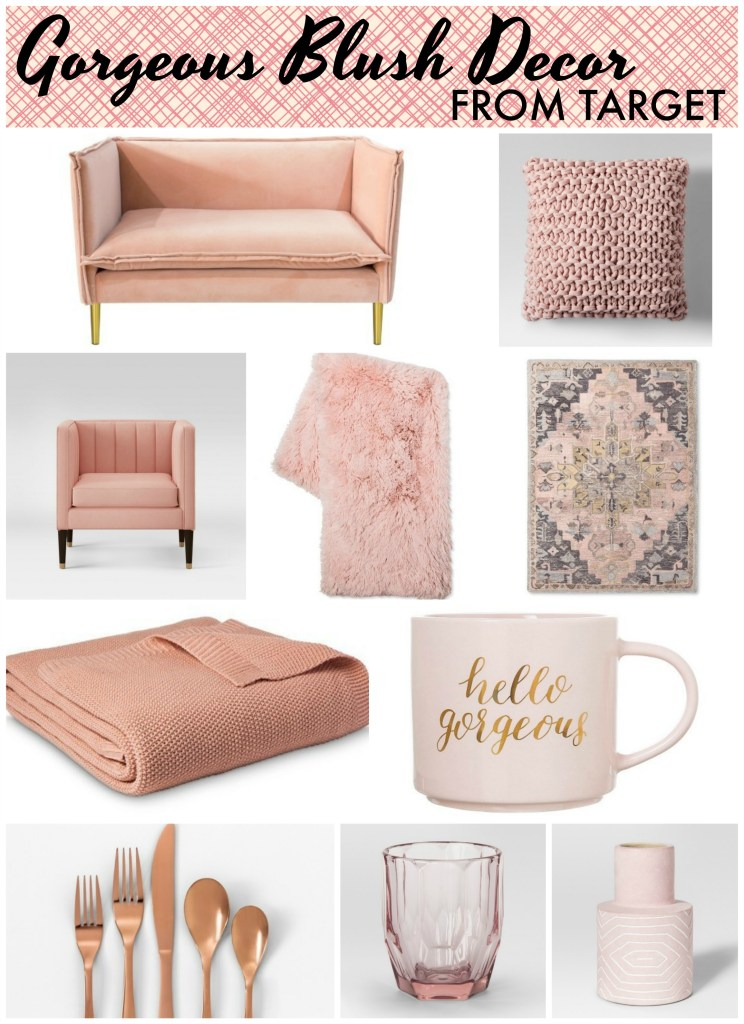 Gorgeous blush home decor items from Target | Rose gold & dusty pink accents