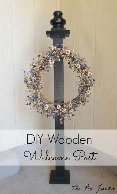 diy wooden welcome post