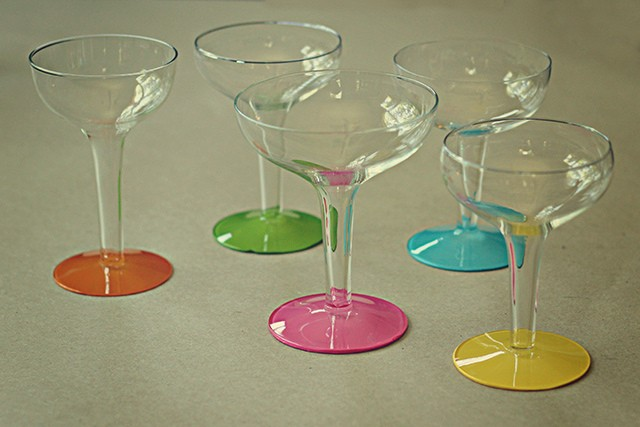 painted champagne glasses