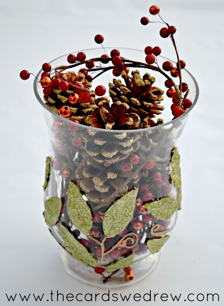 Easy Christmas Vase The Cards We Drew
