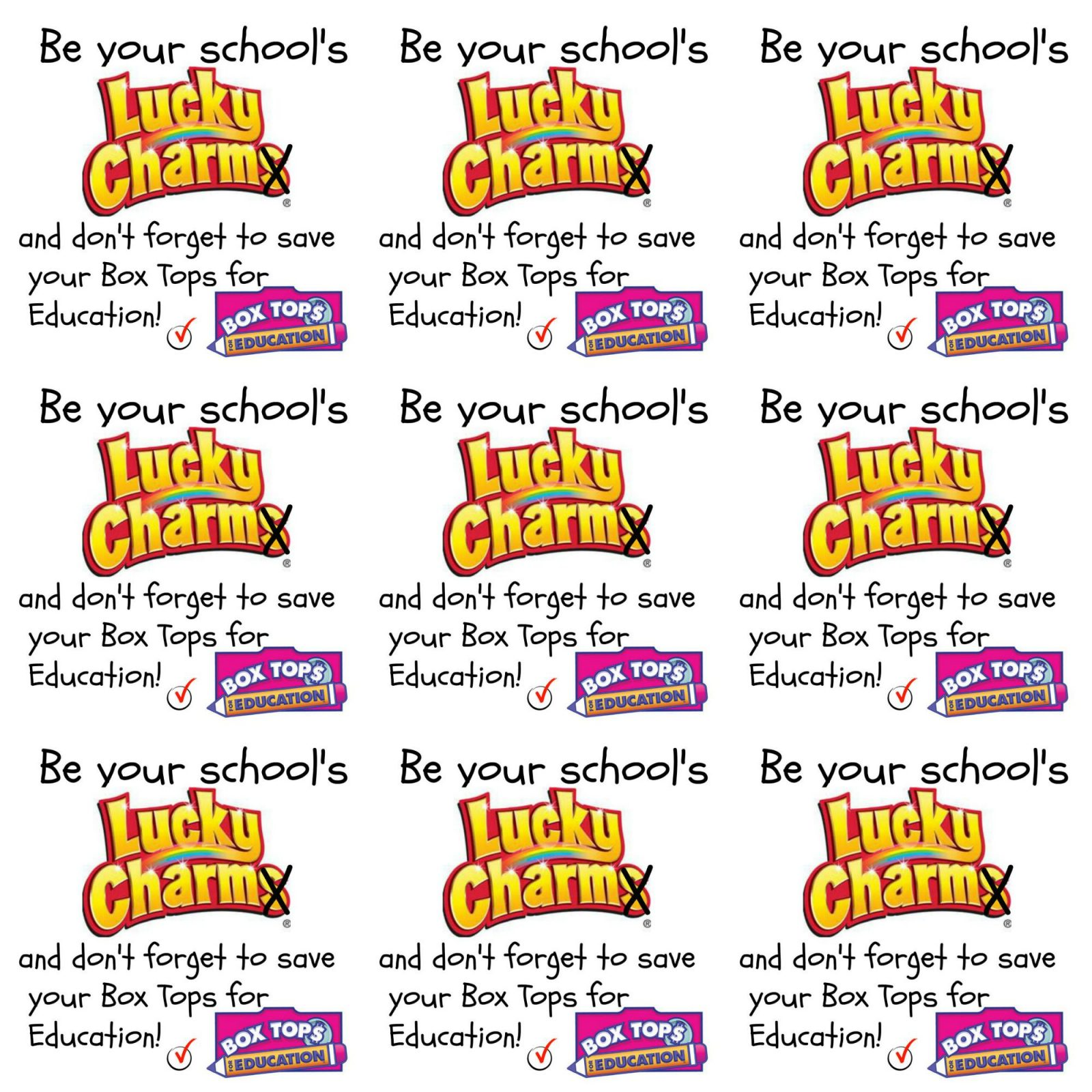 Be Your School S Lucky Charm Free Print And Recipe