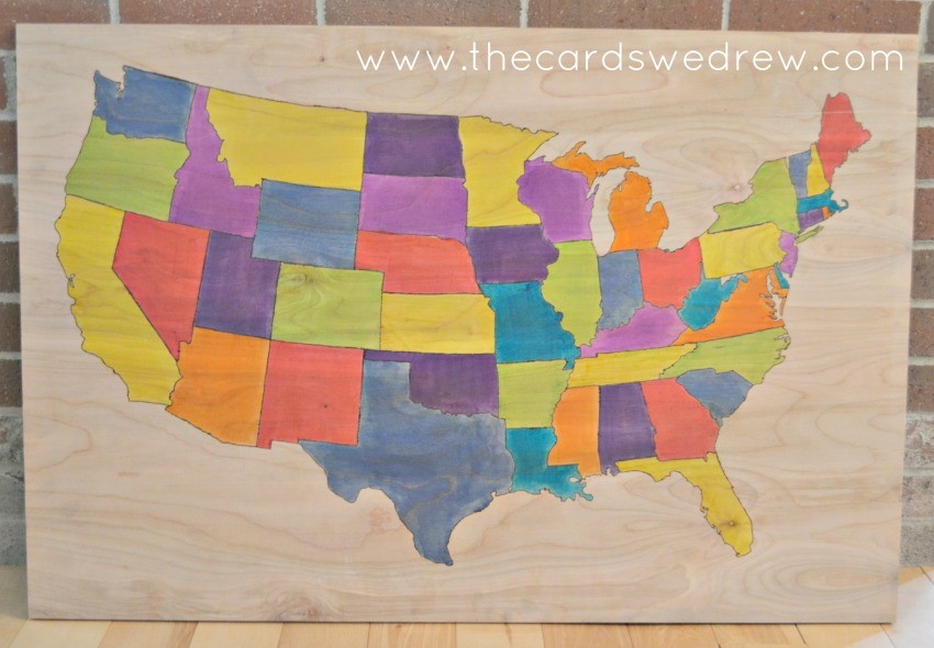 diy united states map wall art