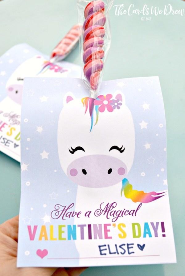 Magical Unicorn Valentine - The Cards We Drew