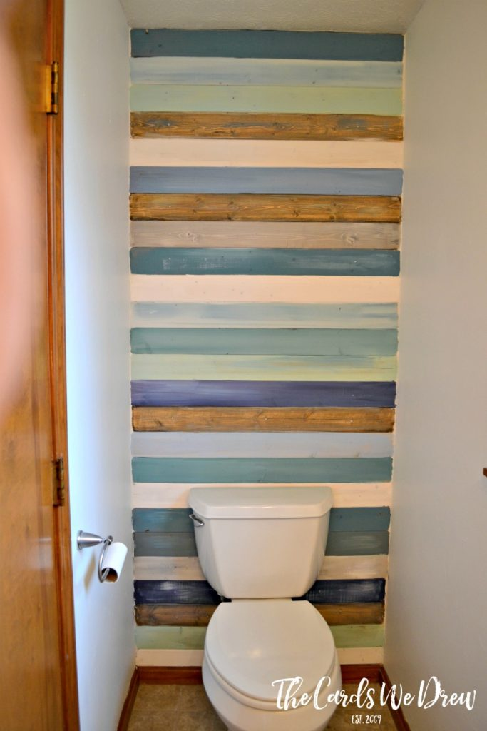 Coastal Planked Wall Half Bath Update Part One The