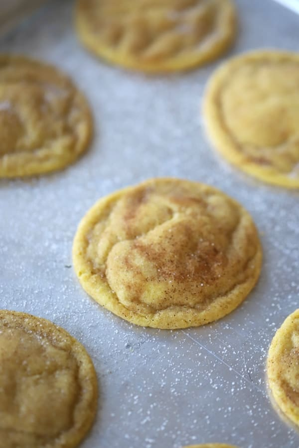 Einkorn Snickerdoodles made with all-purpose Einkorn flour.