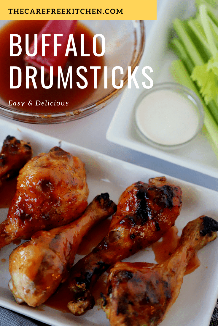 This easy grilled chicken recipe is a huge hit! If you love buffalochicken, this will soon be a family favorite! Grilled Buffalo Chicken drumsticks easy and perfect for just about any time of the year.