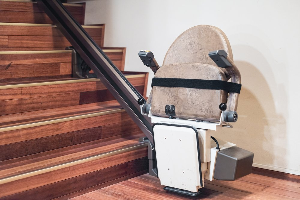 stair lift to adapt a home for someone with mobility issues
