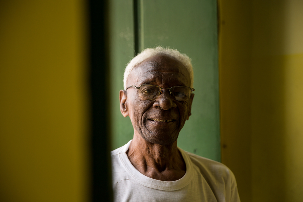 Portrait of a Brazilian senior at home