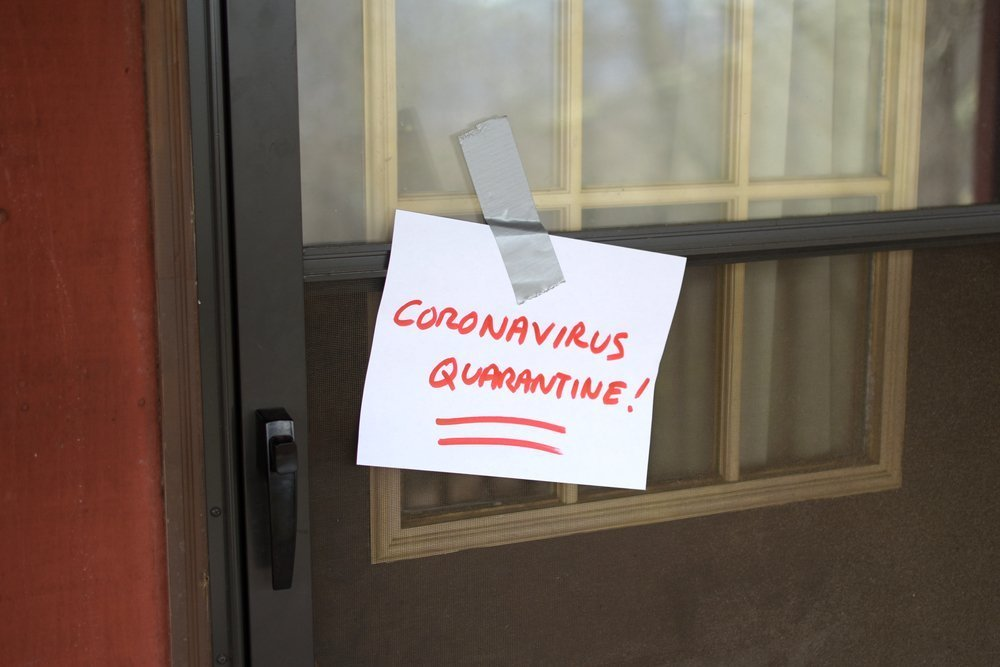 Self Quarantine door sign for front of house, because of Coronavirus (2019-nCoV)(Sars-CoV-2)(COVID-19). corona qourintine quaranitne quarentied quarrantined quaranteen qourantine quaratine qurantine