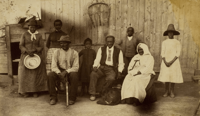 Harriet Tubman at home and her friends. Residents of the Home for the Aged and Indigent Negroes. Auburn, N.Y.