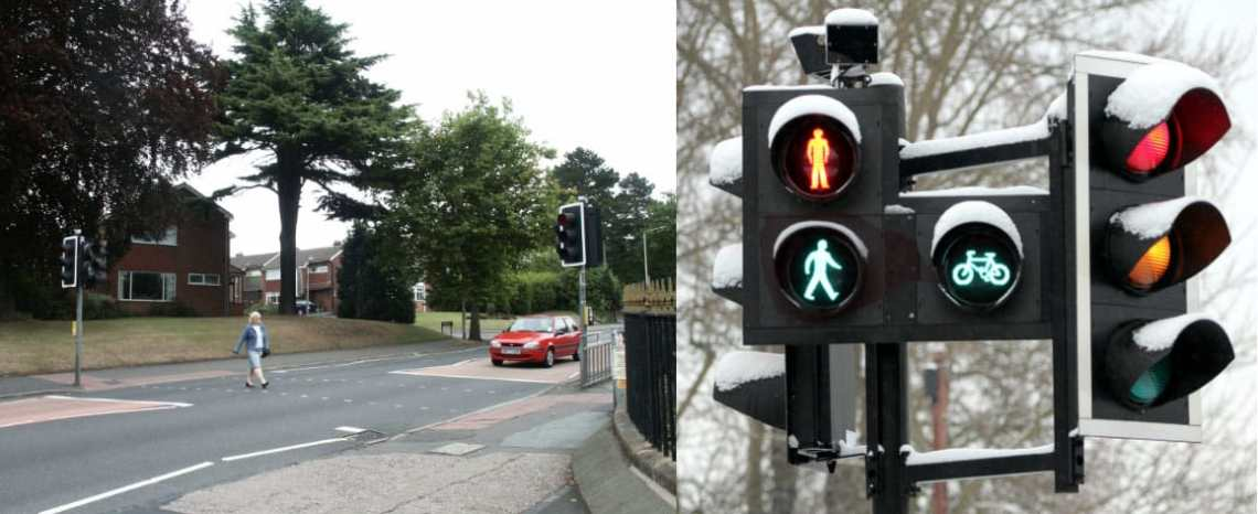 Pelican crossing vs toucan crossing