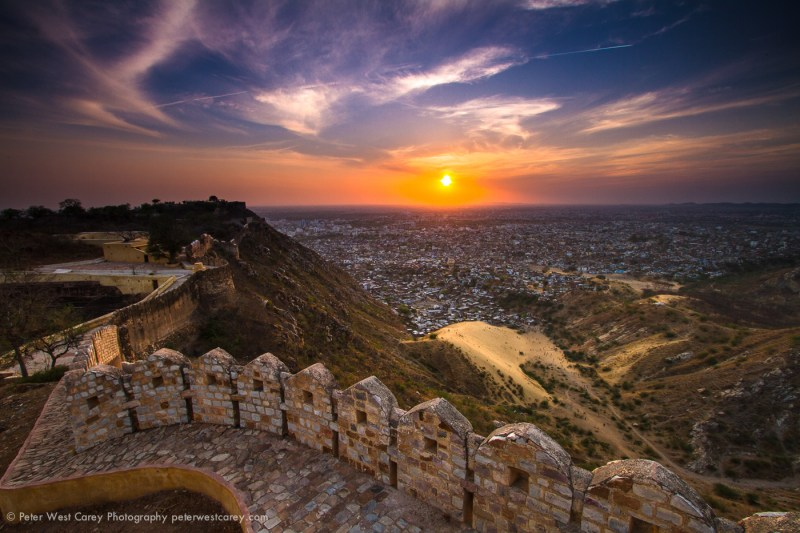 Sunset From Nahargarh Fort, Jaipur, India