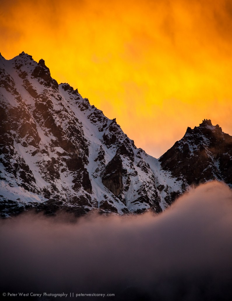 Sunset at Gokyo, Nepal