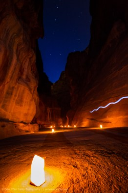 The Siq and the Big Dipper, Petra, Jordan