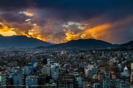 Sunset over Kathmandu, Nepal