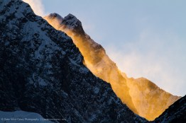 Spindrift on fire, Himalayas, Nepal