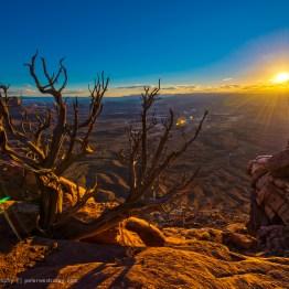 Sunset at the Green River Overlook, Canyonlands National Park, Utah, USA