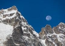 Moonset, Machermo, Nepal