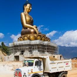 The Worlds Tallest Sitting Buddha, Thimphu, Bhutan