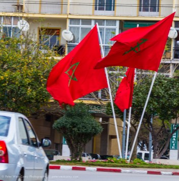 National Flags, Tangier, Morocco