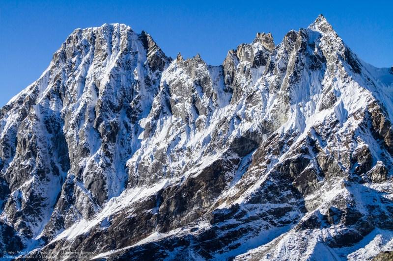 The Machermo Peaks as seen from Gokyo Ri, Himalayas, Nepal