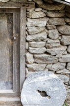 Stone wall and closed door - Nepal