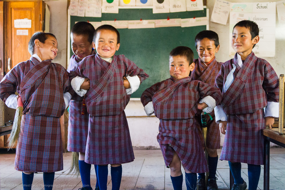 Photo Of The Day – Goofy Bhutanese School Kids | The Carey Adventures