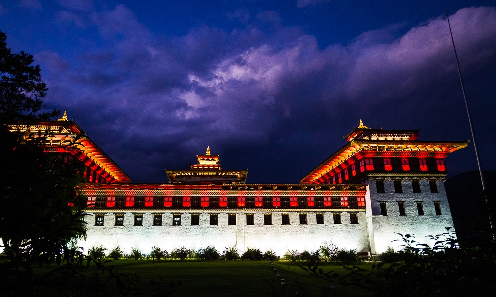 Photo Of The Day – Thimphu's Tashichho Dzong At Night