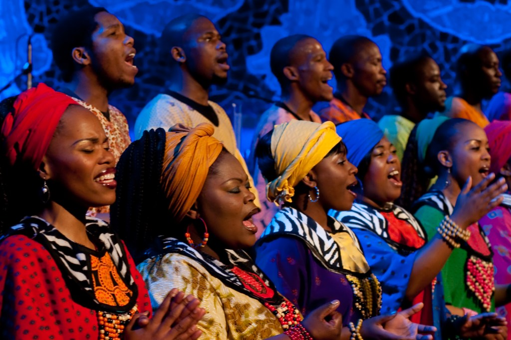Soweto Gospel Choir performs its holiday-themed show on Dec. 4 at the Sony Centre.