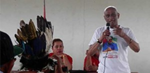 While still high commissioner to Canada for Guyana, Harry Narine Nawbatt campaigns in last May's election in Region Nine for the PPP/C which appointed him. He is suing after being dismissed last August by the current APNU-Alliance for Change government. Stabroek News photo.