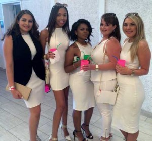 These Canadian beauties came all dressed up for the authentic Caribbean party experience