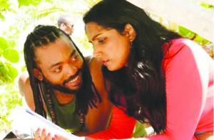 Machel Montano and Natalie Perera in Bazodee