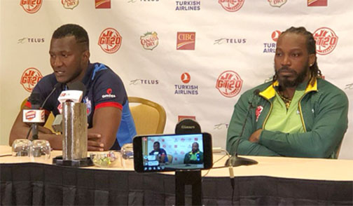 Sammy and Gayle promise ' great entertainment'  at  Canada Global T20