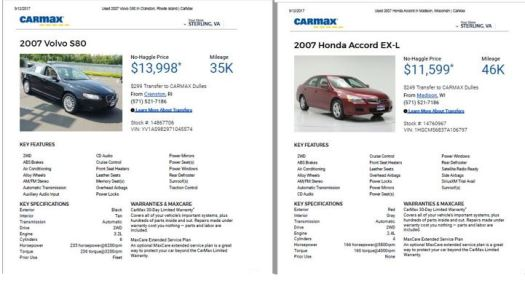Sensible - Honda Accord and S80