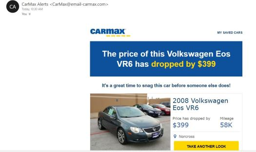 VW EOS Price Drop