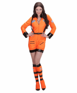 ORANGE ASTRONAUT LADY